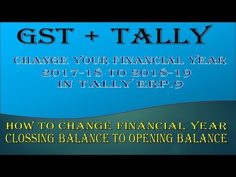 Tally Erp.9||How to B/F(Change Financial Year in Tally) 2017-18 to 2018-19
