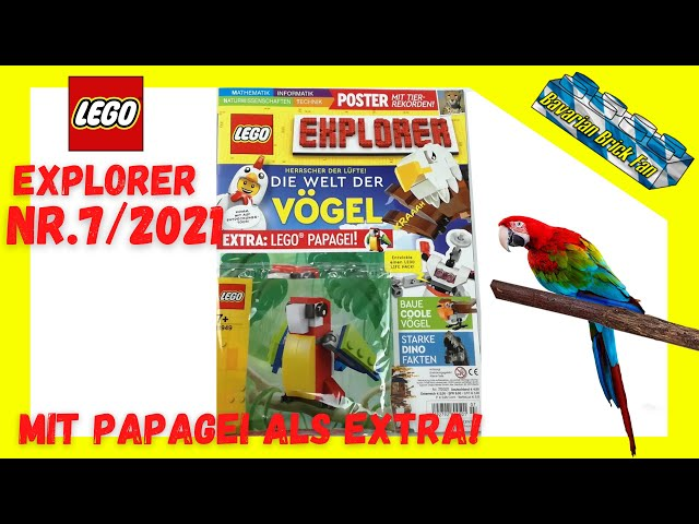 LEGO Explorer Magazin Nr.7/2021 mit Papagei (11949) als Extra | Review + Unboxing deutsch