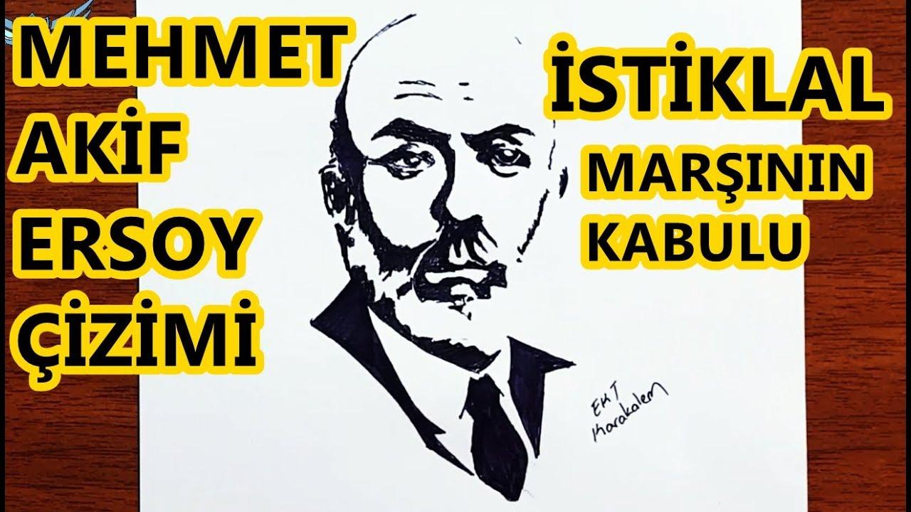 Istiklal Marsinin Kabulu Resmi Cizimi Mehmet Akif Ersoy Cizim