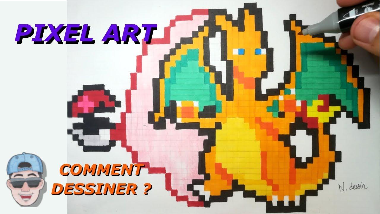 3 Comment Dessiner Ses Premiers Pixel Art Pokemon Youtube