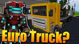 EURO TRUCK SIMULATOR V MINECRAFTU?😱🔥 Minecraft Trucks #1