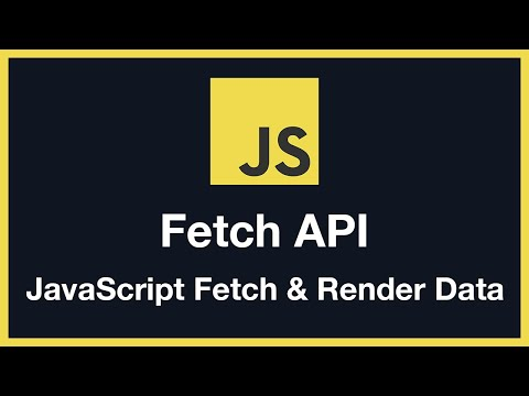 Fetch API U0026 Rendering Data With JavaScript