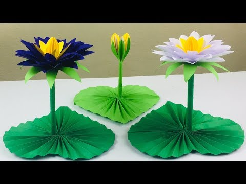 Lotus Flower Craft | Lotus Flower With Paper | Paper Crafts For School | DIY - Paper Lotus Flower