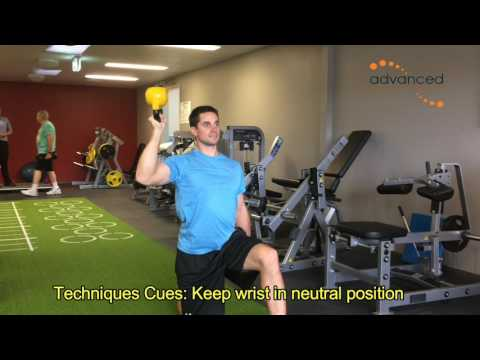 SHOULDER EXERCISES Half Kneeling Inverted Kettlebell Overhead Press