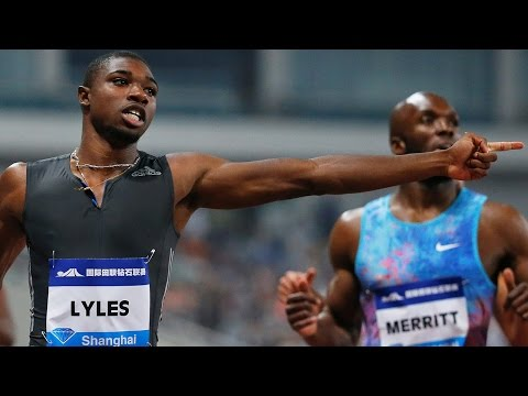 Men's 200M Final at Diamond League in Shanghai
