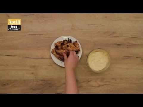 Křupavé kuřecí nudličky s pikantním dipem