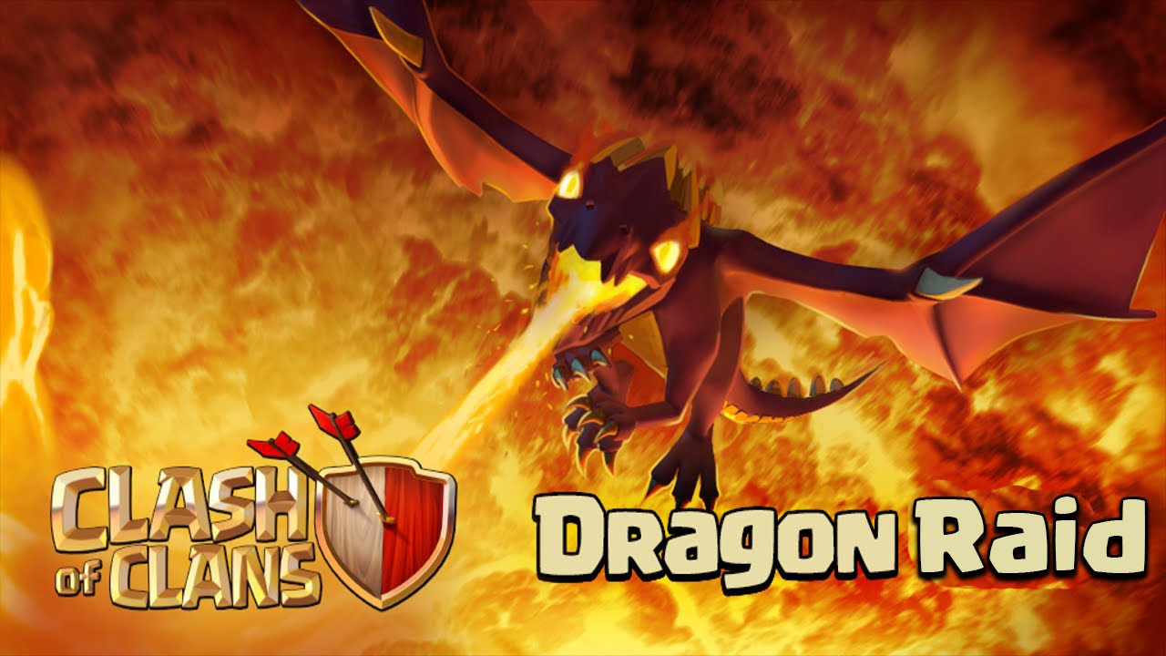 Clash Of Clans Mass Dragon Attack Town Hall 8 Clashtrack Com