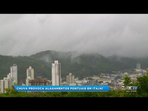 Chuva provoca alagamentos pontuais em Itajaí