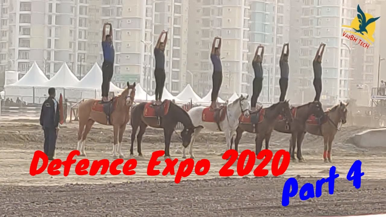 Lucknow Defence Expo 2020 Horse Army Yoga Perform Vrindavan First VIP Look Part 4