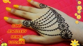 easy diy best and beautiful hand jewellery henna mehndi design tutorial