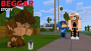 SAD BEGGAR STORY WITH HAPPY ENDING - MINECRAFT ANIMATION MONSTER SCHOOL