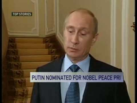 Russian President Vladimir Putin nominated for 2014 Nobel Peace Prize + other top stories
