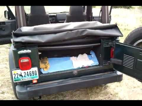 How to put the top up on your soft top Jeep - Soft top installation