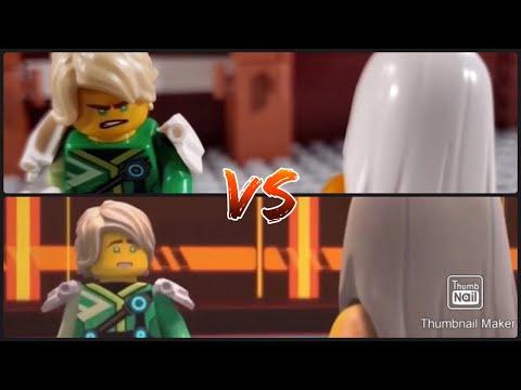 NINJAGO | Lloyd VS Harumi vs side-by-side stop motion Battle | Season 12 credit-(Cssm)