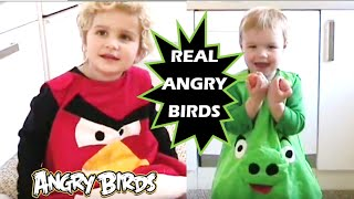 Real Angry Birds (kids in costumes)