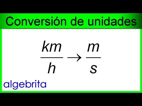 Convertir Kilómetros Por Hora A Metros Por Segundo Km H A M S Unidades De Rapidez 404 Youtube