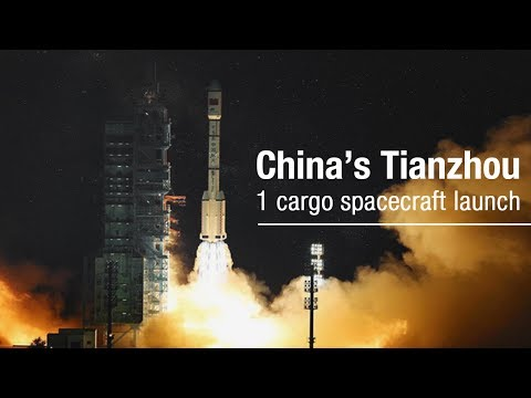 China's Tianzhou-1 cargo spacecraft launch in 360-degree view | CCTV English