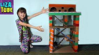 Лиза Построила Игровой ДОМ из Картона с Пентхаусом Почти ЗАМОК для питомцев LizaTube