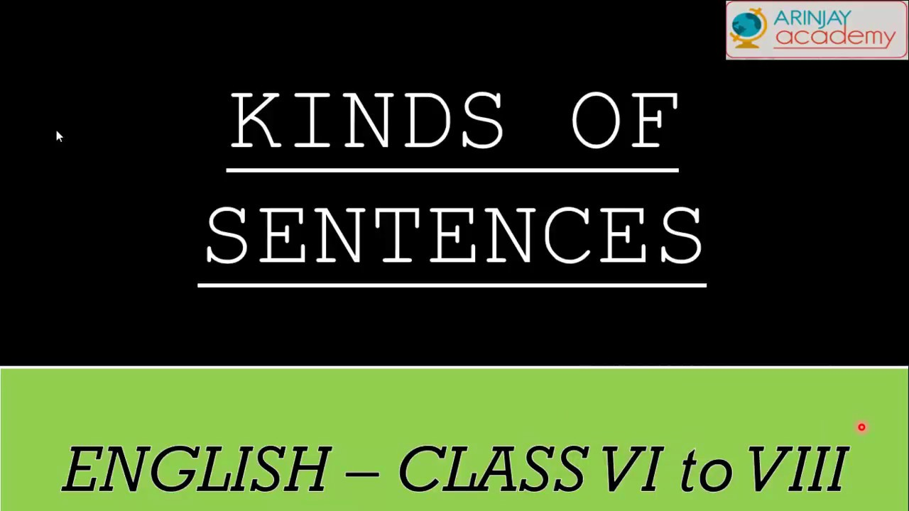 hight resolution of Kinds of Sentences Assertive