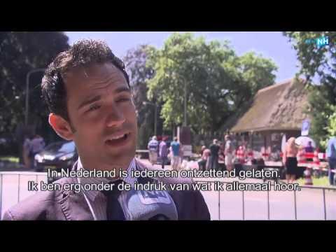 Veel internationale media bij de kazerne in Hilversum