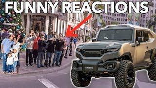 DRIVING A TANK THROUGH BEVERLY HILLS *Funny Reactions* thumbnail