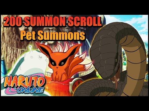 Naruto Online | Pet Summonings | 200 Summoning Scrolls!