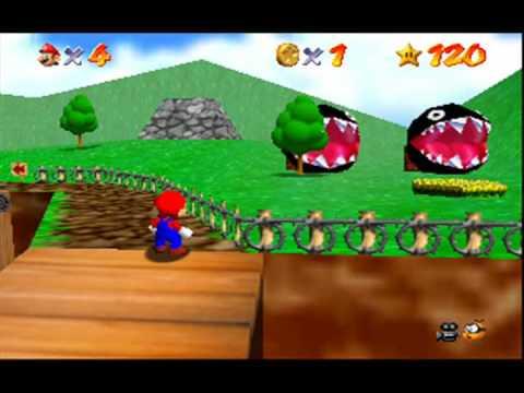 Attack of the Chain-Chomps in <b>Super Mario 64</b> (<b>Gameshark Code</b> ...