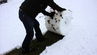 Snow shoveling West Virginia style. Life hack!