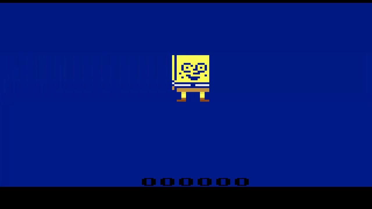 Atari 2600 Demo Spongebob Sprite 2008 Jarod Kitchen Youtube