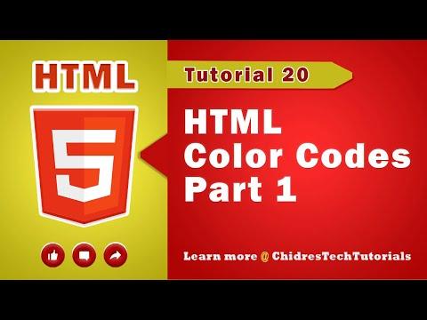 HTML Tutorial 20 - HTML Color Names Vs. HTML Color Codes - Part 1