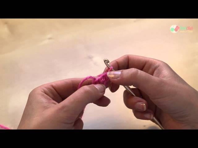 Haakwerk opzetten zonder losse ketting op basis van vasten