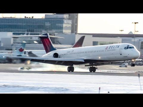 Delta McDonnell Douglas MD-88 (MD88) landing & departing Montreal (YUL/CYUL)