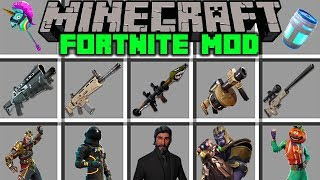 Minecraft FORTNITE MOD! l THANOS, WEAPONS, SHOPPING CART & MORE! l Modded Mini-Game (Education)
