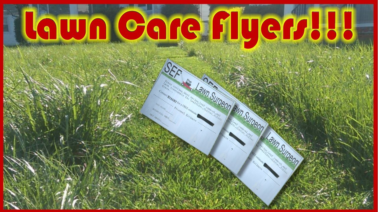 lawn care flyers and how to pass them out lawn care flyers and how to pass them out