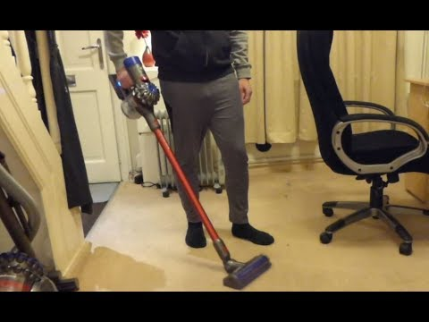 Just Vacuuming: Dyson V8 Total Clean cordless vacuum cleaner vacuums the house.