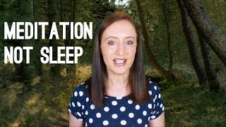 How to Stay Awake While Meditating, Not Falling Asleep During Meditation | Nicky Sutton