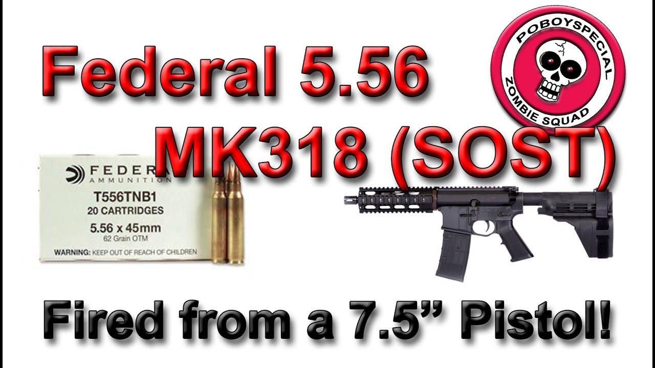 Federal MK 318 Mod 0 (SOST) 62g from a 7 5 inch barrel