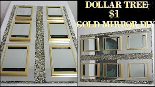 DIY DOLLAR TREE | GOLD MIRROR WALL DECOR | DIY HOME DECOR IDEA