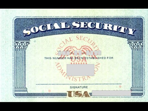 Social security card number youtube for Make a social security card template