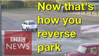 Speedy parallel park beats world record - BBC News
