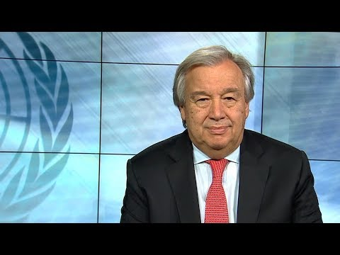 """An alert for the world"" - UN Secretary-General António Guterres, 2018 New Year Video Message"