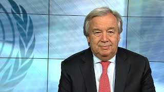 """""""An alert for the world"""" - UN Secretary-General António Guterres, 2018 New Year Video Message"""