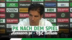 PK nach dem Spiel   Hannover 96 - VfL Bochum