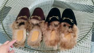 Gucci Princetown Velvet Slippers with Fur Comparison: Overview & try-on