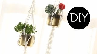 Diy: Hanging Macrame Planter ∞ Trash To Fab W/ Anneorshine