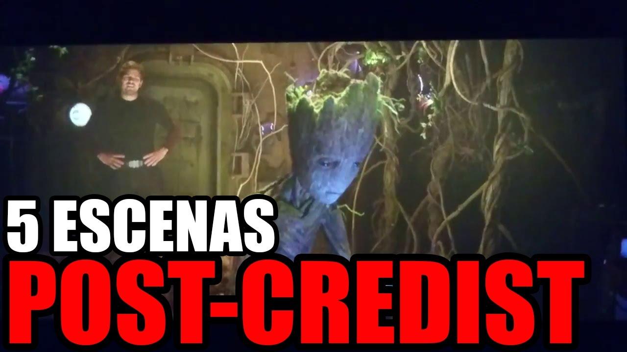 creditos de guardianes de la galaxia