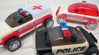 Automoblox Minis Rescue Vehicles Wooden Cars Unboxing