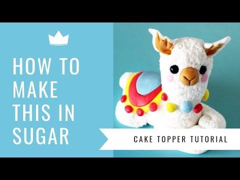Baby Llama Cake Topper - Cake Dutchess Tutorial