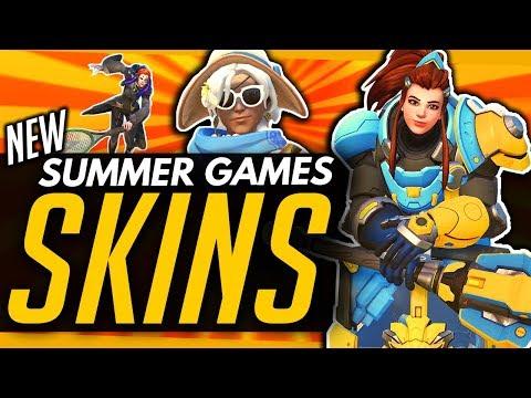 Overwatch   UNREVEALED EPICS! - ALL Summer Games SKINS, Emotes & Highlight Intros!