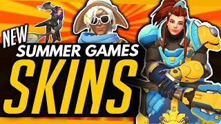 Overwatch | UNREVEALED EPICS! - ALL Summer Games SKINS, Emotes & Highlight Intros!